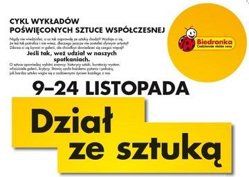 """""""Dział ze sztuką"""" w Biedronce w Otwocku"""