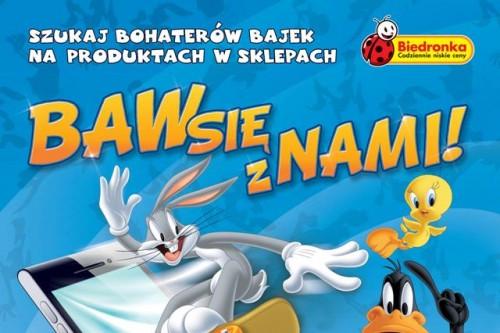 Królik Bugs, Scooby-Doo i inne postaci Warner Bros. w Biedronce