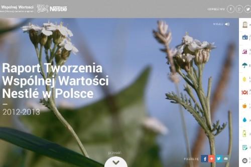 Nowy cyfrowy Raport Nestlé