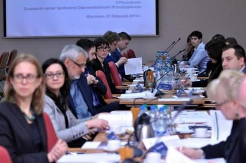 Posiedzenie Zespołu ds. Społecznej Odpowiedzialności Przedsiębiorstw w MG