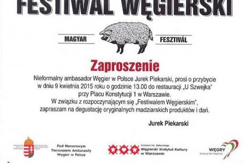 """Festiwal węgierski """"U SZWEJKA"""""""