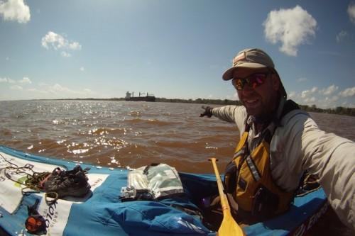 Gienieczko wpłynął do delty Amazonki