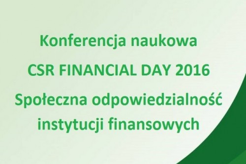 CSR Financial Day 2016