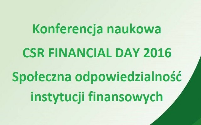 CSR Financial Day 2016