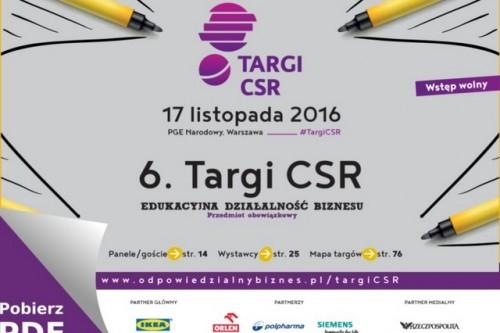 6. Targi CSR: Biznes otwarty na edukację i coraz bardziej odpowiedzialny