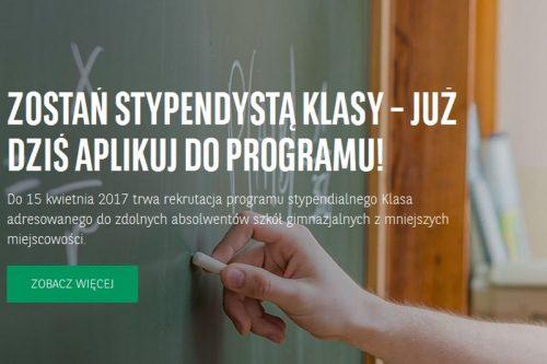 Trwa rekrutacja do XV edycji programu stypendialnego Klasa Fundacji BGŻ BNP Paribas