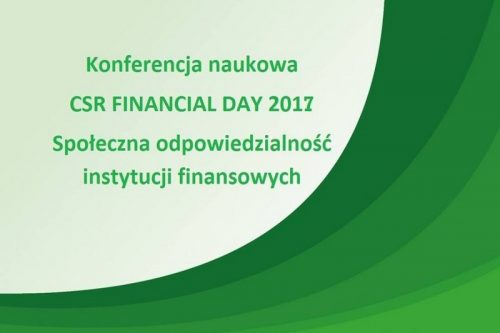 Konferencja CSR Financial Day 2017