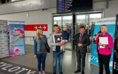 9 – cio milionowy pasażer  MPL Warszawa/Modlin