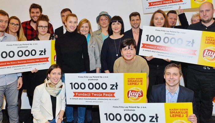 Marka Lay's przekazała pół miliona zł pięciu fundacjom charytatywnym