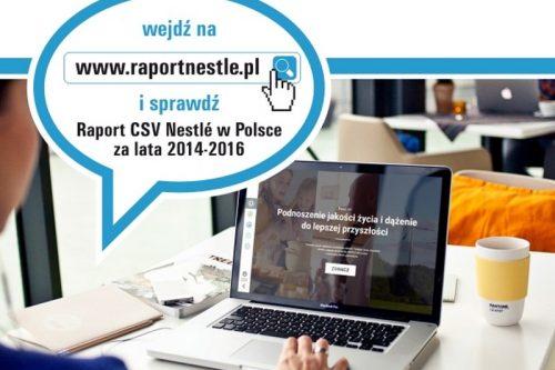 Nestlé Polska opublikowało Raport Tworzenia Wspólnej Wartości 2014-2016