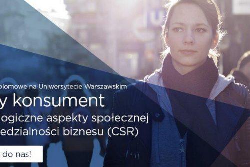 Konsument i CSR – nowe studia podyplomowe