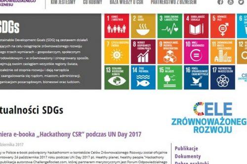 Odpowiedzialnybiznes.pl z nową platformą wiedzy o Celach Zrównoważonego Rozwoju