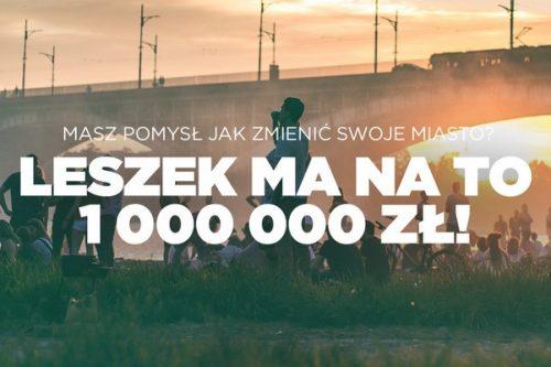 """Rusza III edycja programu LECHSTARTER pod hasłem """"Pozytywnie zmieniaj swoje miasto"""""""