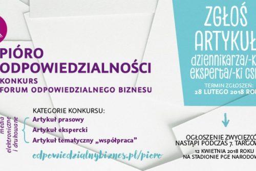 """""""Współpraca"""" tematem konkursu dla dziennikarzy i ekspertów"""