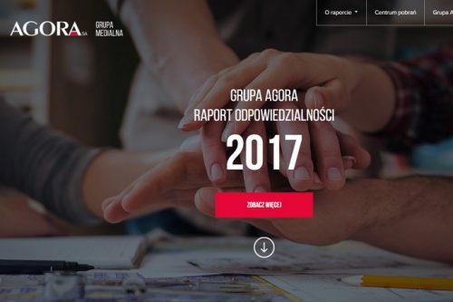 """""""Codziennie odpowiedzialni"""" – interaktywny Raport odpowiedzialności Grupy Agora"""