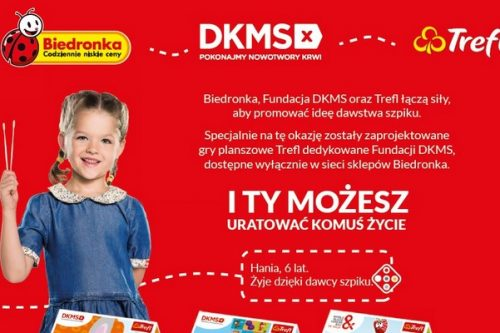Biedronka i Fundacja DKMS promują ideę dawstwa szpiku