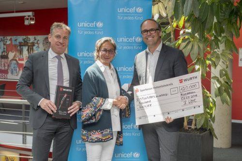 Grupa Würth przekazała darowiznę na rzecz UNICEF