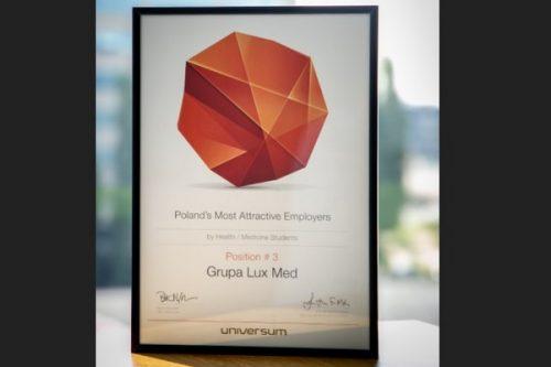 Grupa LUX MED w gronie najbardziej pożądanych pracodawców 2018 roku